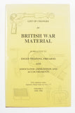 LIST OF CHANGES IN BRITISH WAR MATERIAL Vol V