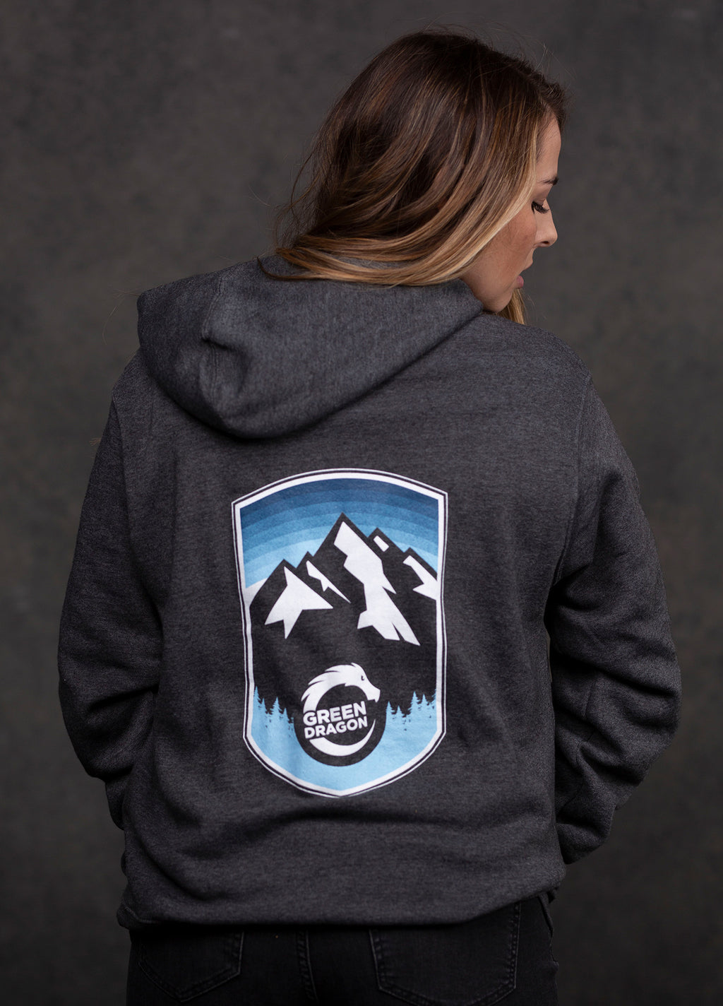 Colorado Mountain Zip-Up Hoodie
