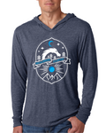 Dragon Badge - Lightweight Hoodie  - Indigo