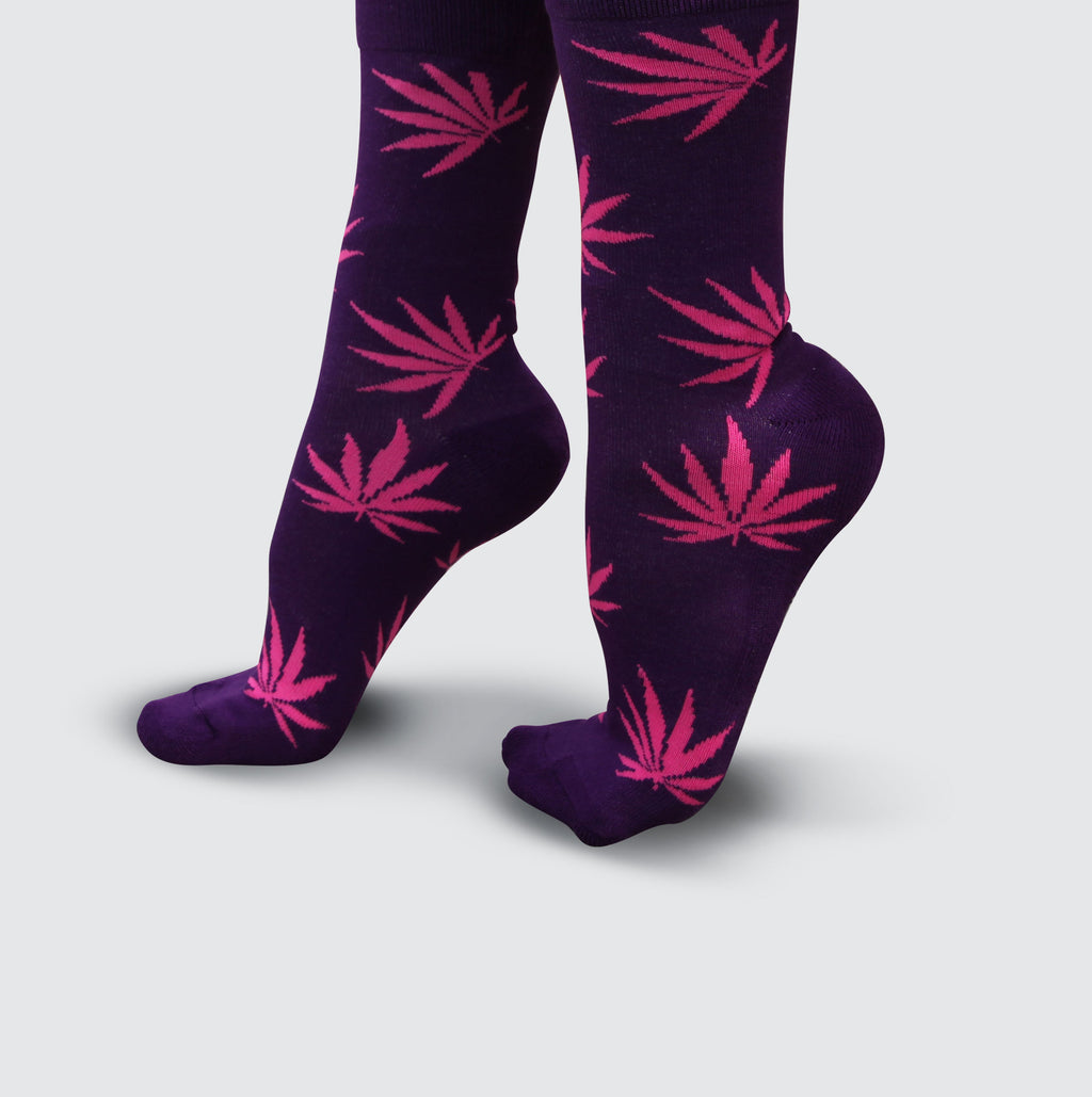 Cannabis Socks - Purple/Pink