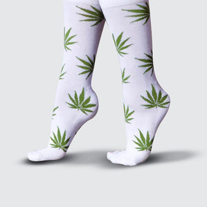 Cannabis Socks - White/Green
