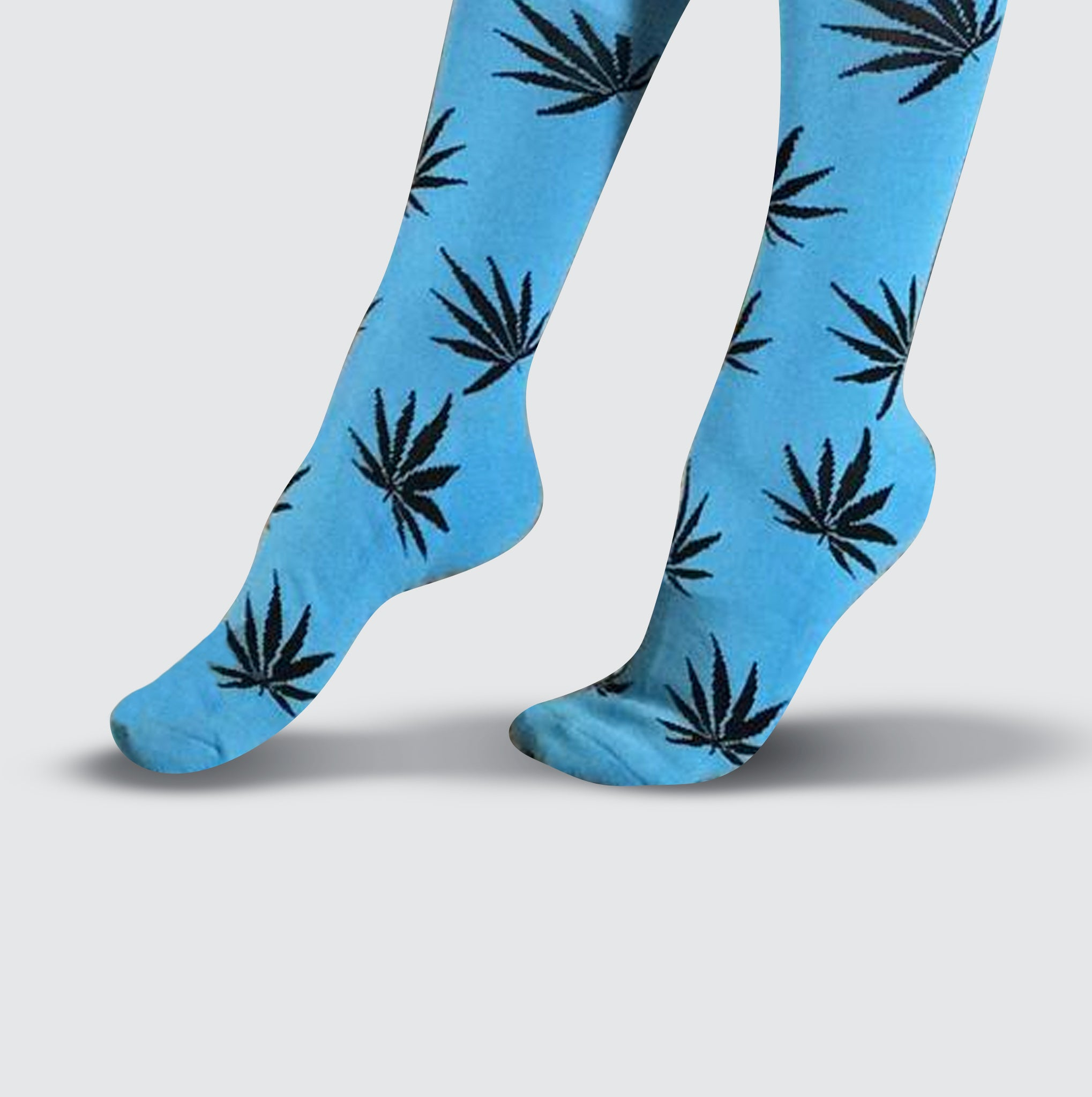Leaf Socks - Blue/Black