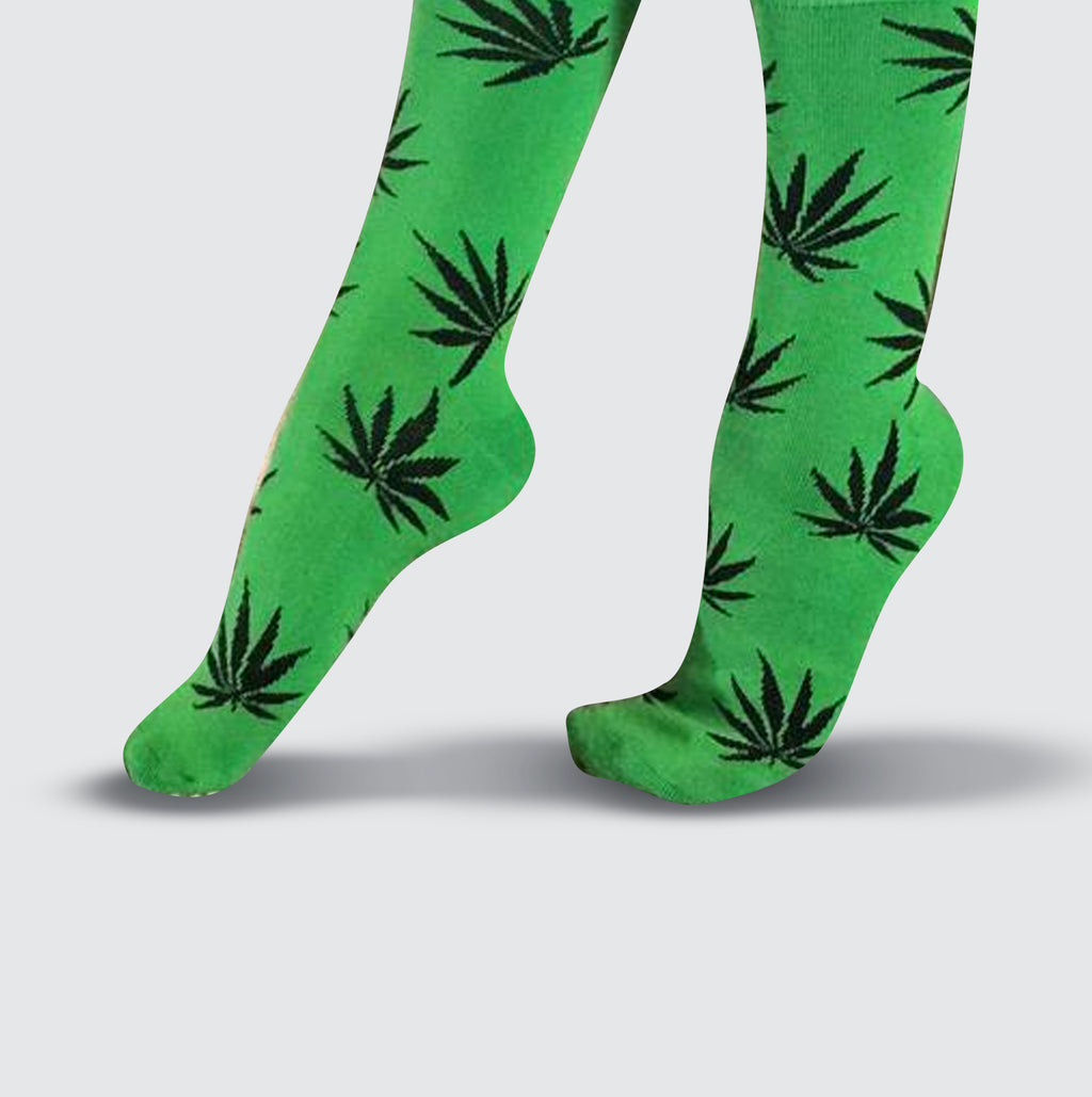 Cannabis Socks - Green/Black