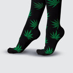 Leaf Socks - Black/Green