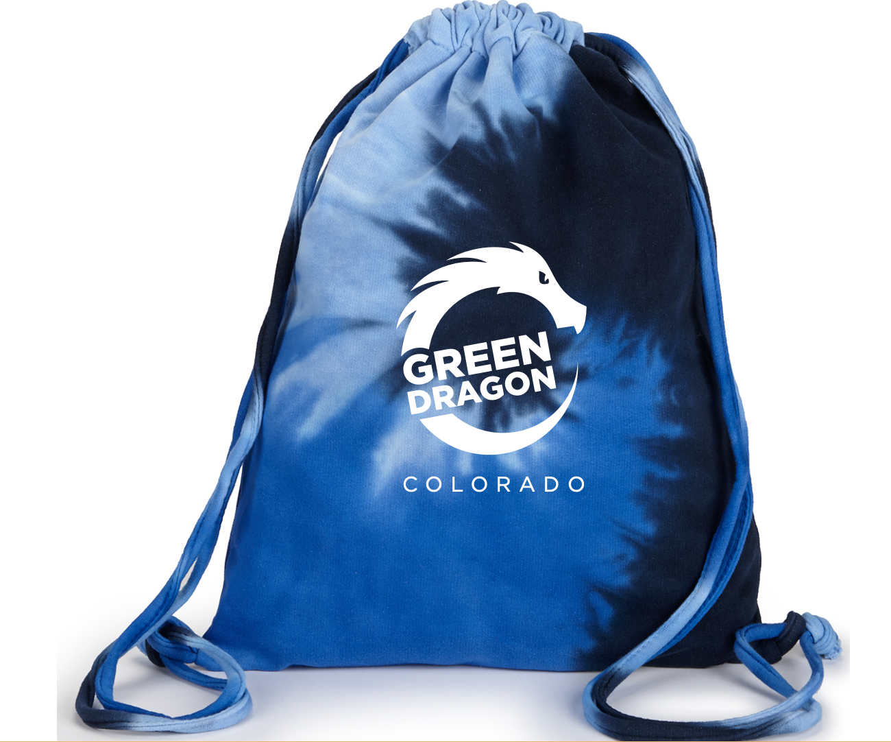 Blue Swirl Tie-Dye Draw String Bag