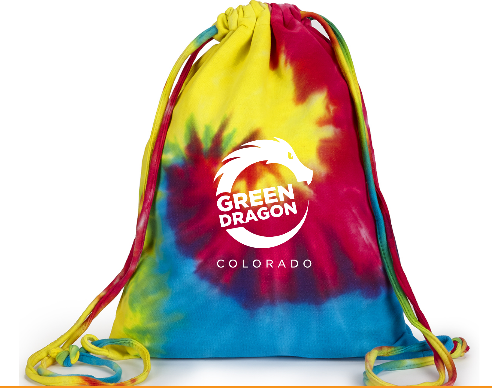 Rainbow Tie-Dye Draw String Bag