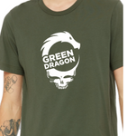 Steal Your Face T-Shirt  - Military Green, Vintage Black