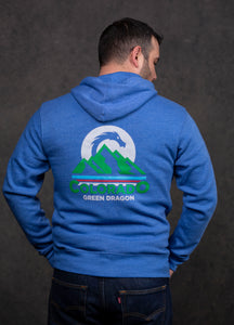 Colorado Mountain Dragon Zip-Up Hoodie