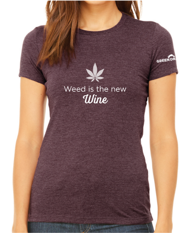Weed is The New Wine T- Shirt   - Heather Maroon