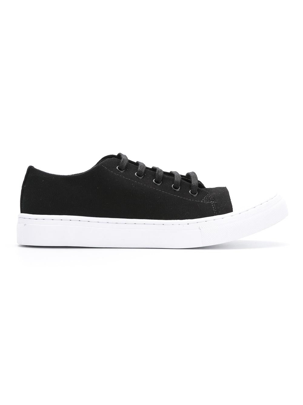 Black Lace-up Sneakers | Vanilla