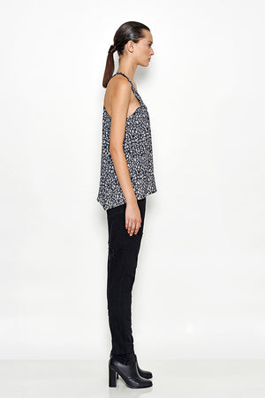 Black Denim Cut-out Pants | Ceres