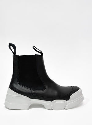 Chunky Sole Ankle Boots White | Tamara