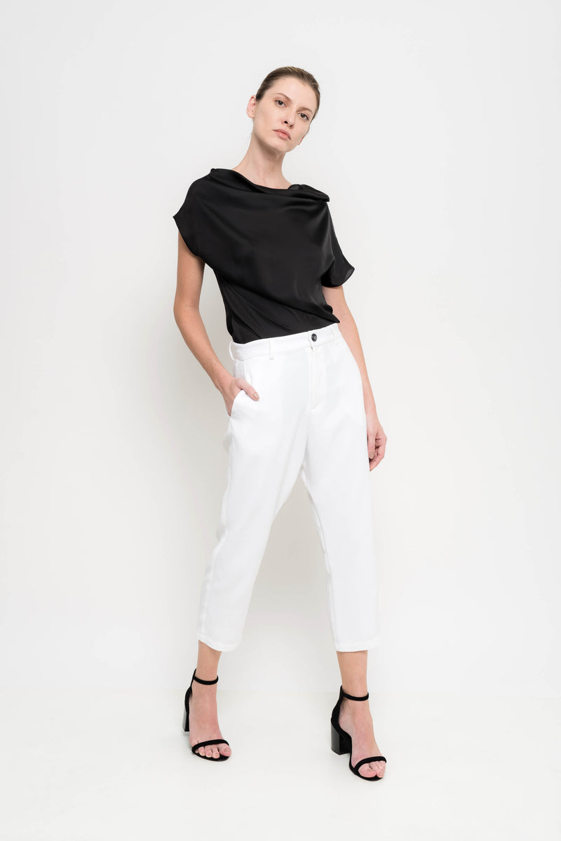 Straight Loose Crepe Pants | Ada