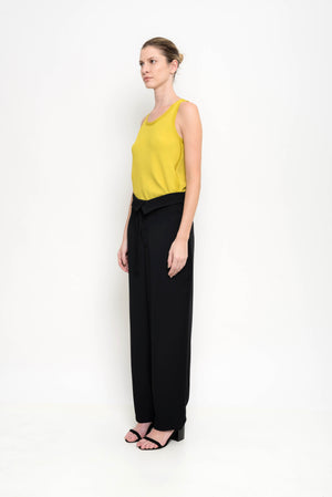 Wide Leg Crepe Pants | Arkansas