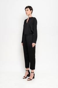 Pleated Cropped Pants | Artesia