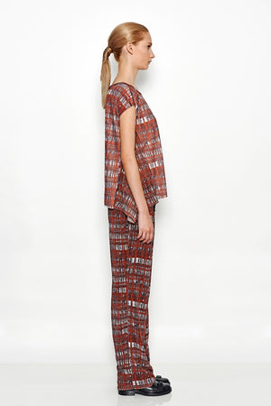 Loose Checked Pants | Cary