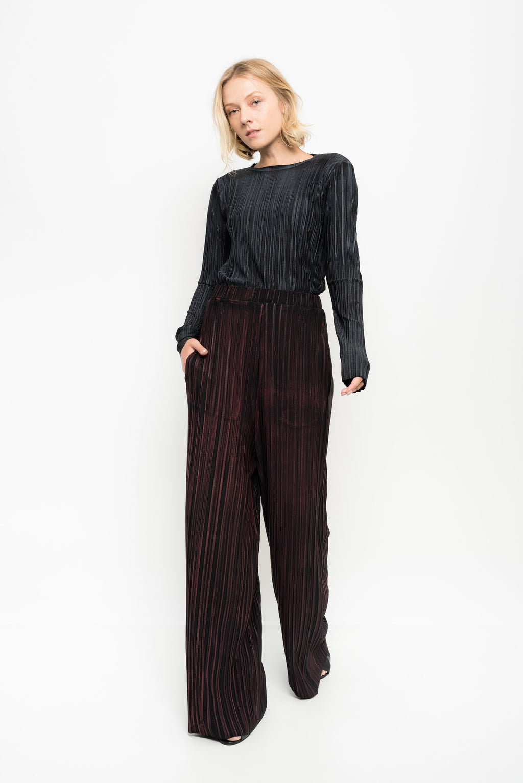 WIDE PLEATED PANTS (clara plants)