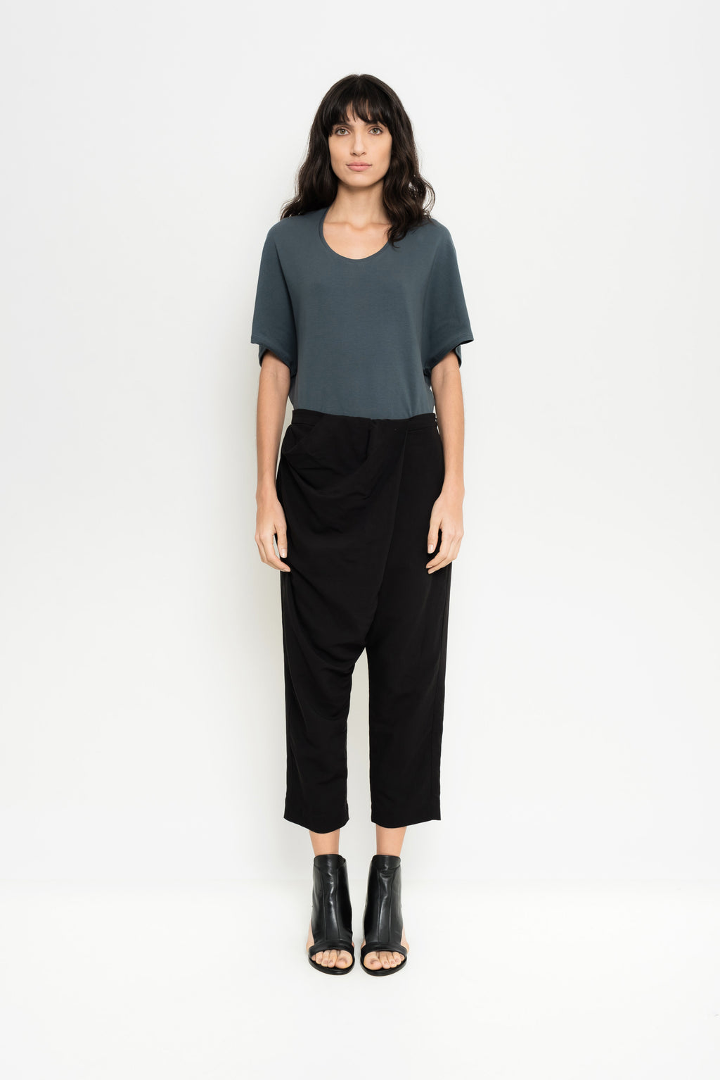 Draped Linen Pants | Male