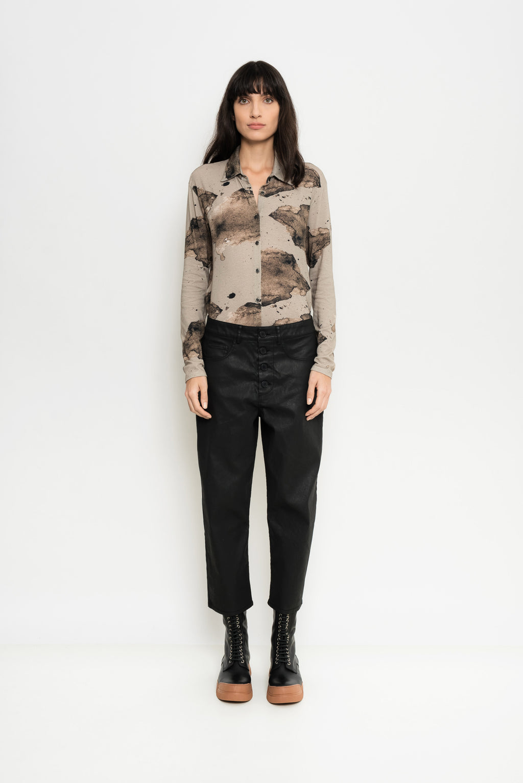 Coated Cropped Denim | Moroni