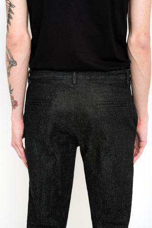 Eco Denim Straight-Cut Pants | Arcada