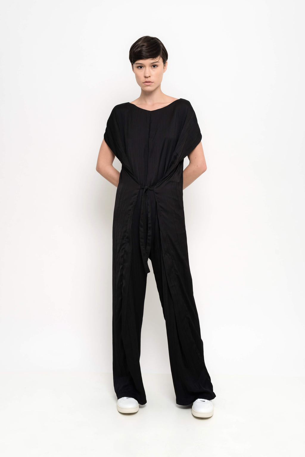 Pleated Wide Leg Jumpsuit | Grove