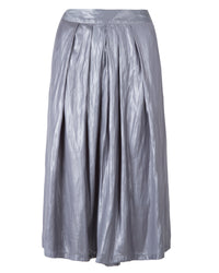 Metallic Draped Culotte Pants | Alfa