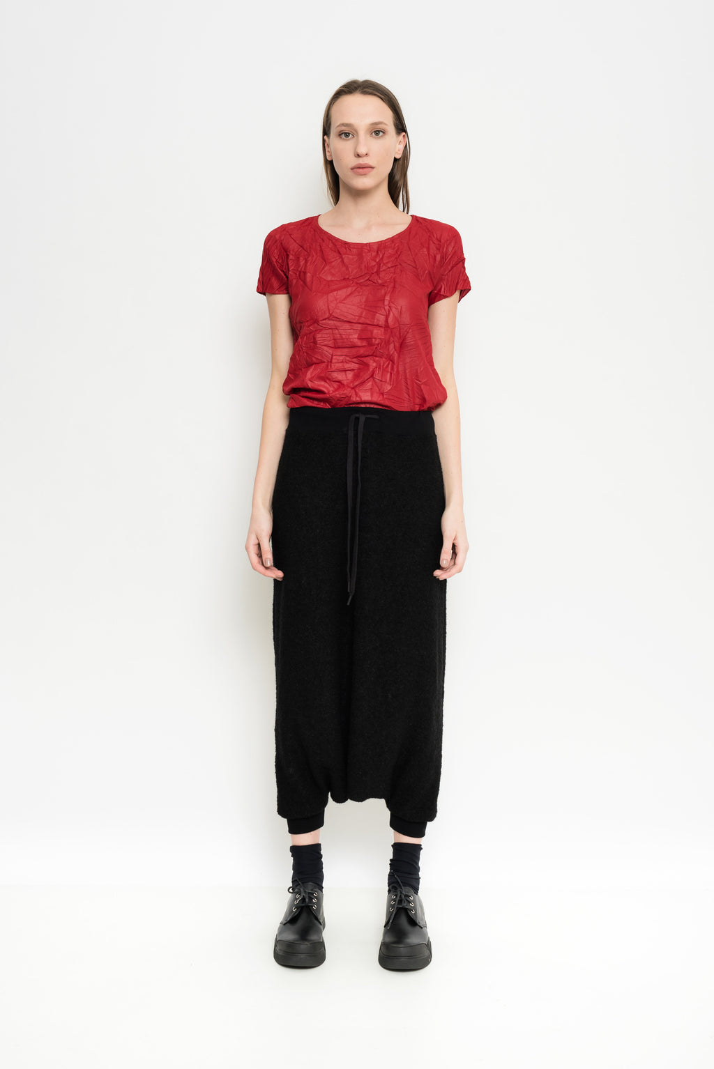 Relaxed Mohair Wool Culottes | Managua