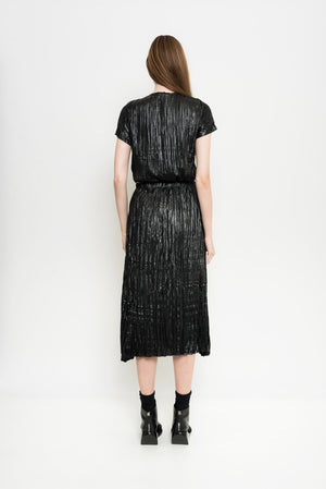 Pleated Metallized Skirt | Galena