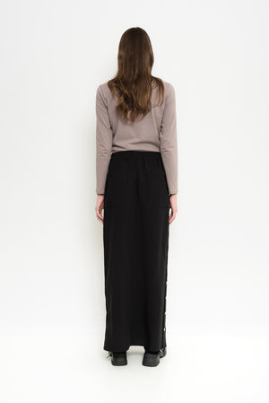 Long Linen Button-Down Skirt | Gibraltar