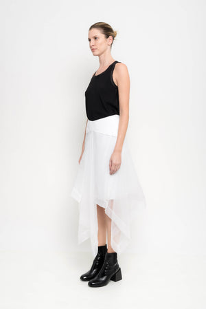 Organza Skirt With Irregual Edges | Mentor