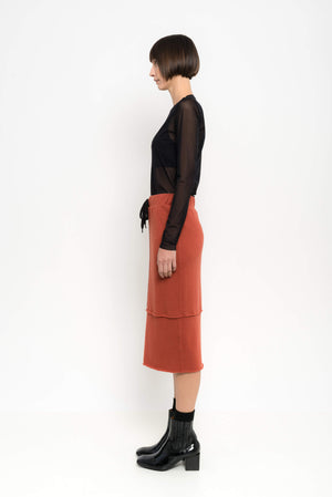 Pencil Wool Skirt | Meridien