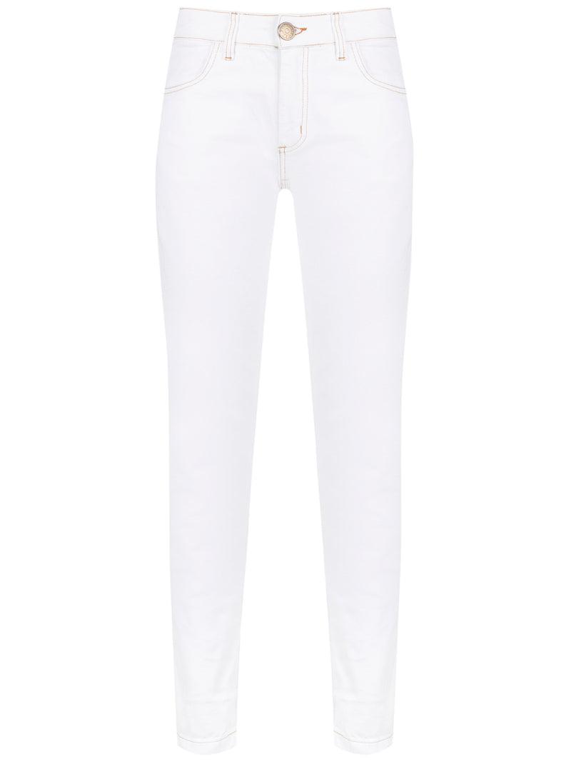 Skinny Bleached Denim Pants | Saloon