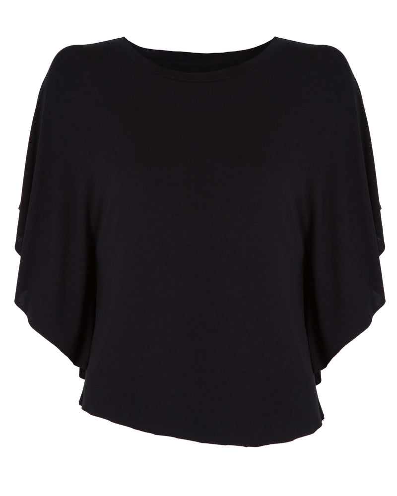 Oval Shape Batwing Sleeve Top | Charles