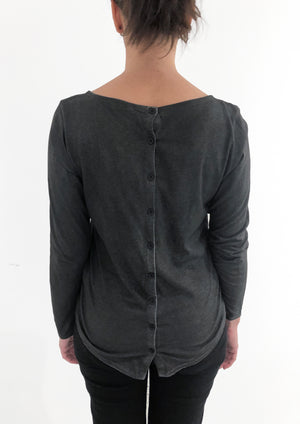Long Sleeve Buttoned Top | Michigan