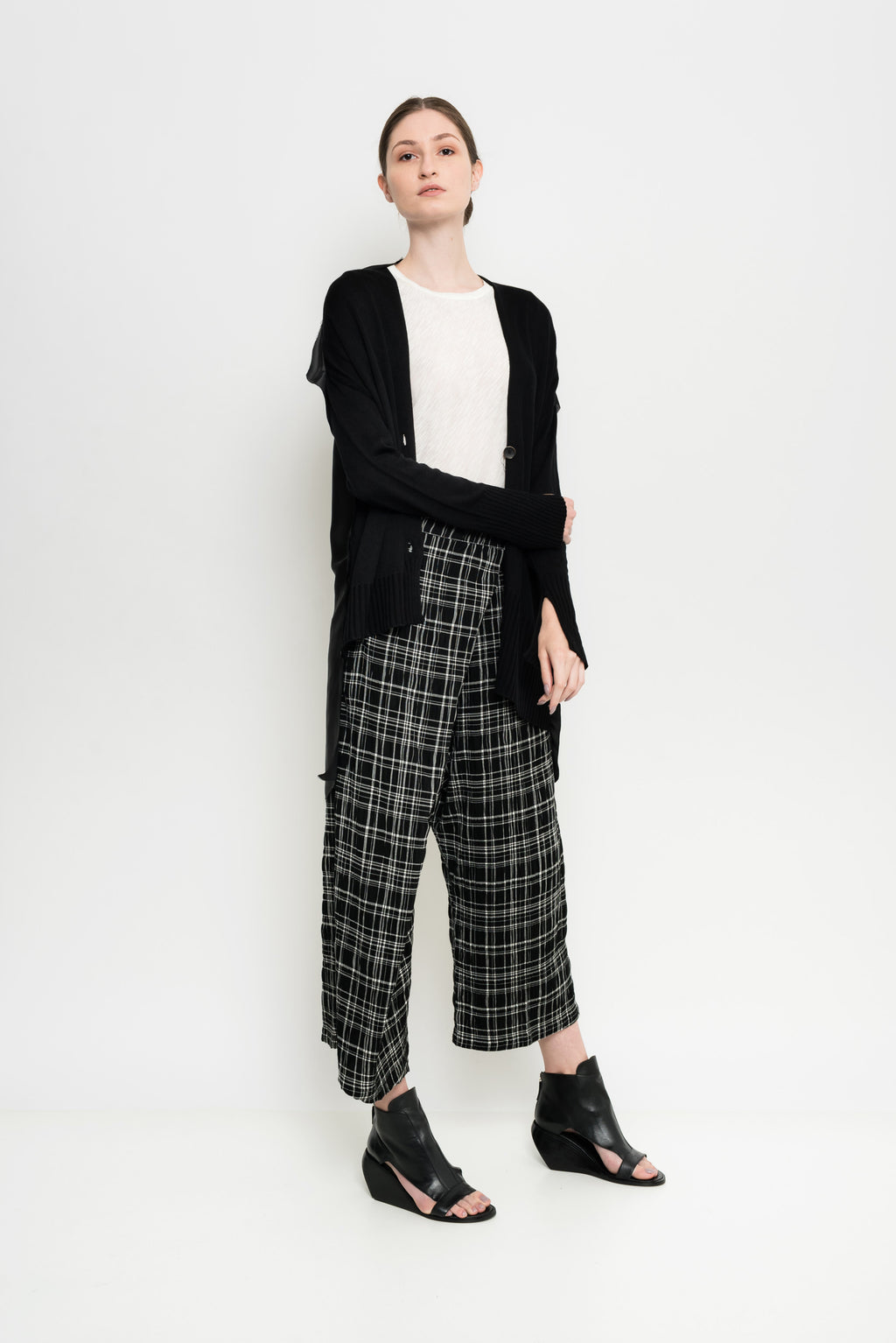 Asymmetric Raw Edge Cardigan | Nagasaki