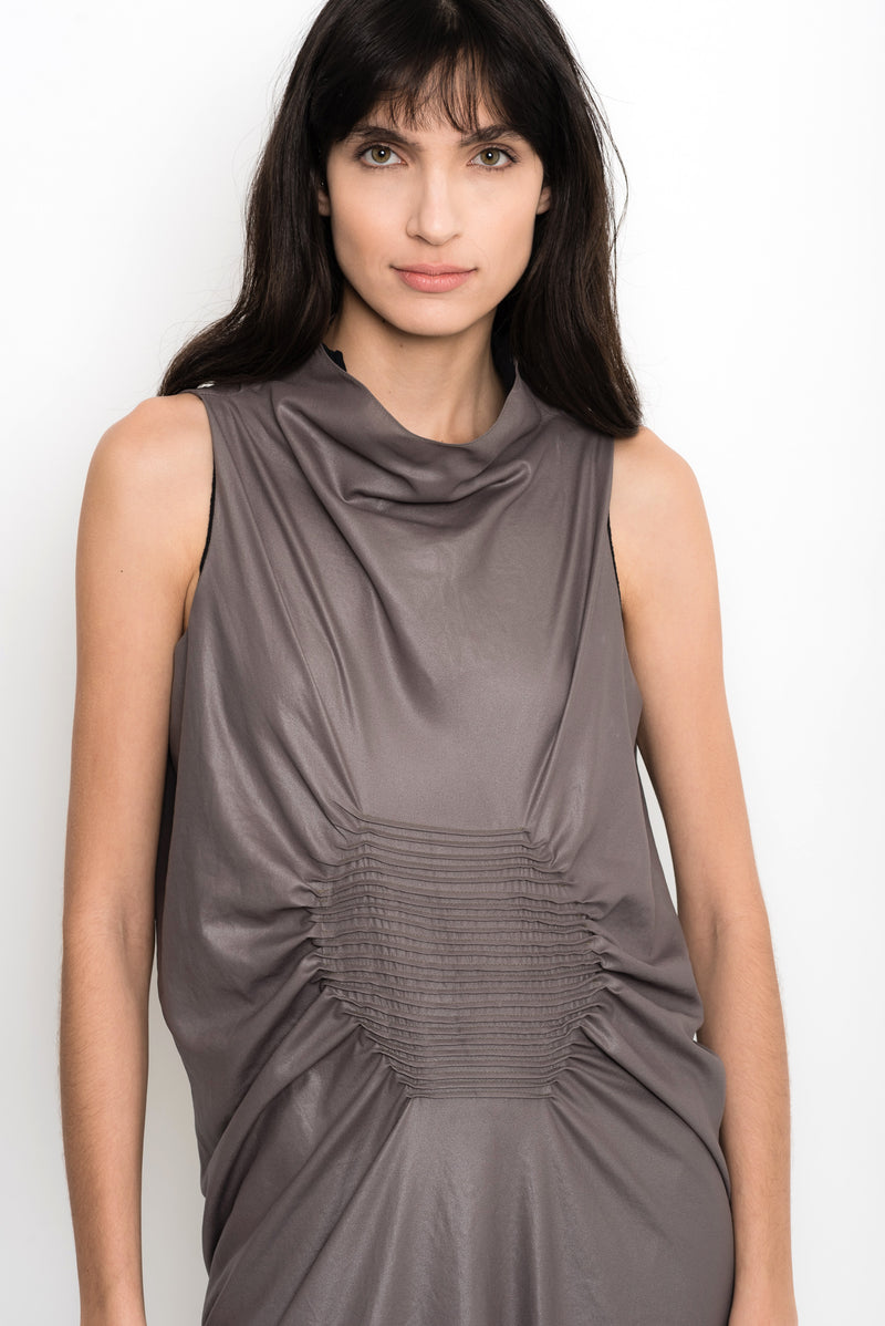 Sleeveless Glossy Cowlneck Dress | Bosnia