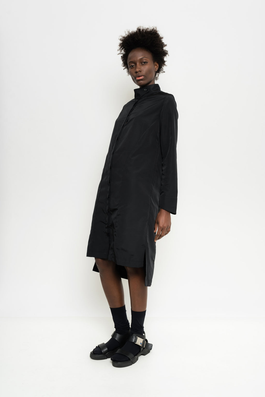 Long Sleeve Nylon Shirt Dress | Bulgaria