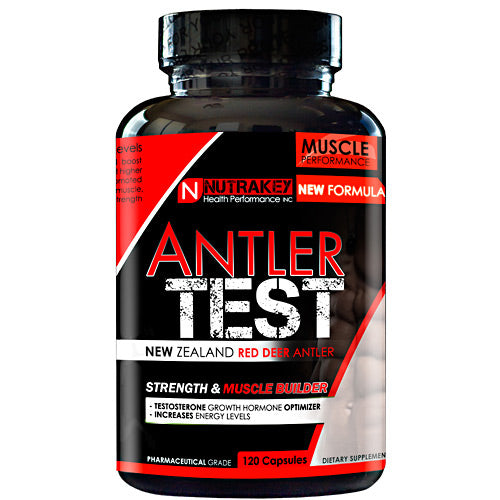 NutraKey Red Deer Antler Test, 120 Capsules (4133571199010)
