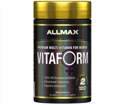 Allmax VitaForm Premium Multi-Vitamin For Women, 60 Tablets-30 Day Supply
