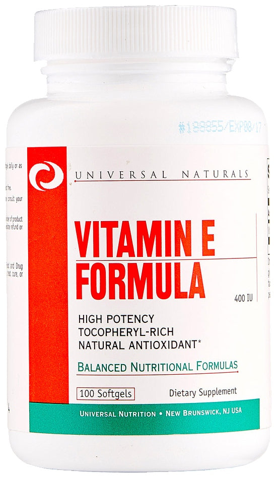 Animal / Universal Nutrition Vitamin E Formula, 100 Softgels