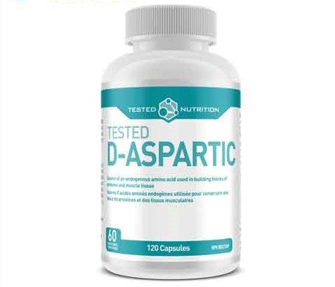 Tested Nutrition D-Aspartic Acid (DAA 1500mg), 120 caps