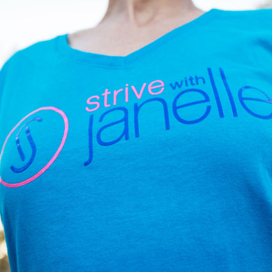 Ladies Sapphire STRIVE V-Neck T-Shirt