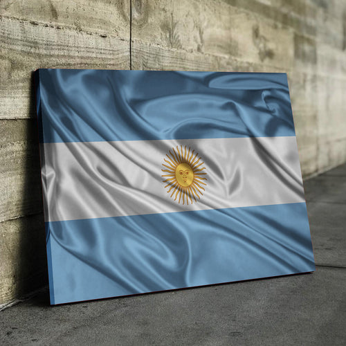 Argentina Flag Canvas