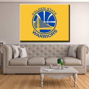 Golden State Warriors Yellow Canvas