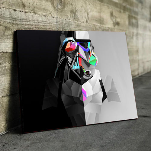 Black Vader vs White Trooper Canvas