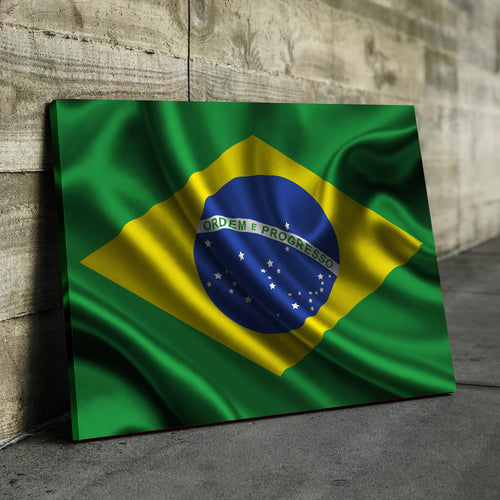Brazil Flag Canvas
