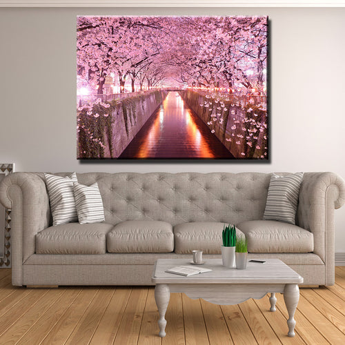 Cherry Blossom Canopy Canvas