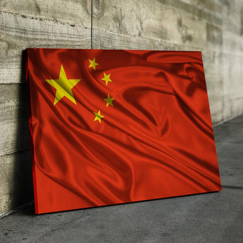 China Flag Canvas