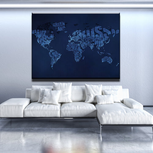 Descriptive World Map Canvas