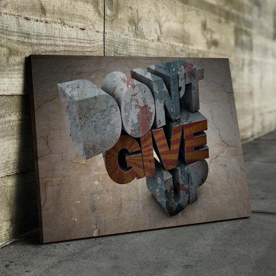 Don't Give Up Canvas